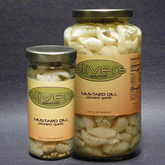 Mustard Dill Pickled Garlic